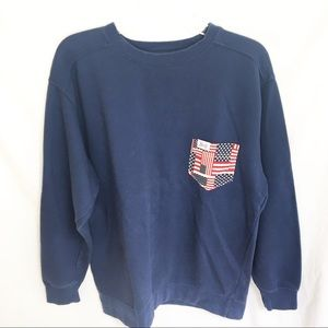 The Frat Collection American Flag Sweater